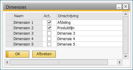 Kostenverbijzondering in SAP Business One 4