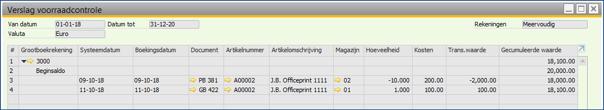 Asaptive SAP Business One - Instelling Voorraadwaarde