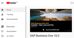 SAP YouTube kanaal